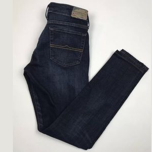Ralph Lauren Mid Rise Skinny Distressed Jeans
